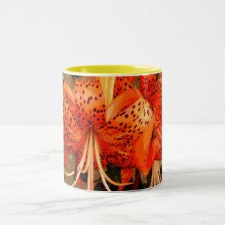 'Tiger Lily' Two-Tone Coffee Mug