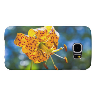 Tiger Lily on Blue Phone Case