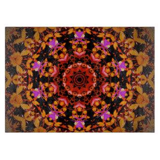 Tiger Lily Pattern Art - Glass Cutting Boards