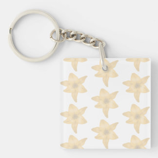 Tiger Lily Pattern in Pastel Shades. Acrylic Key Chain