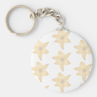 Tiger Lily Pattern in Pastel Shades. Key Chain