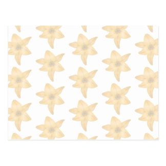 Tiger Lily Pattern in Pastel Shades. Postcard