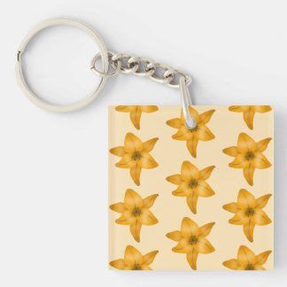 Tiger Lily Pattern. Acrylic Keychains