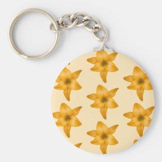 Tiger Lily Pattern. Key Chain