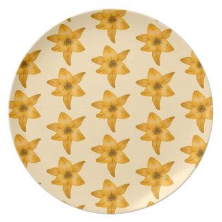 Tiger Lily Pattern. Melamine Plate