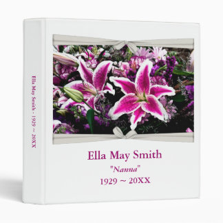 Tiger Lily Pink & White Photo Album 3 Ring Binder