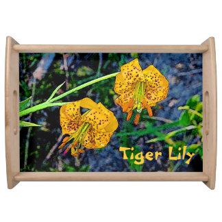 Tiger Lily Service Tray