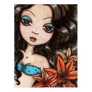 Tiger-Lily postcard by Maigan Lynn