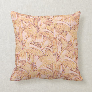 Tiger Lily Sketch Throw Pillow