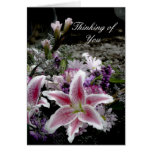 Tiger Lily Thinking of You Card