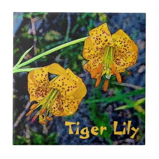 Tiger Lily Small Square Tile