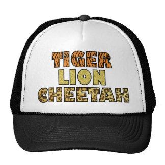 TIGER LION CHEETAH TRUCKER HAT