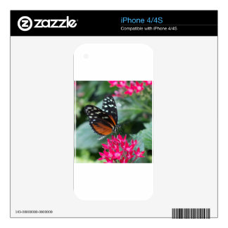 Tiger Longwing Butterfly Skin For iPhone 4