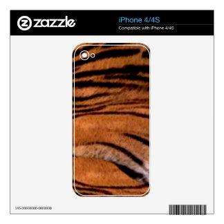 Tiger-look Fur 2 Wildlife iPhone 4 Skin