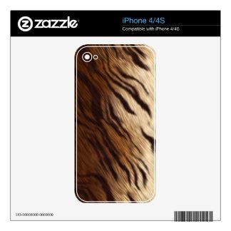 Tiger-look Fur Wildlife iPhone 4 Skin