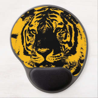 Tiger Look Yellow Black Pop Art Gel Mouse Pad