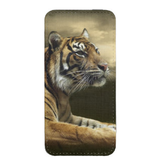 Tiger looking and sitting under dramatic sky iPhone SE/5/5s/5c pouch