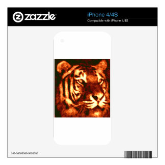 Tiger Lost Patterns Skins For iPhone 4
