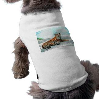 Tiger Lounge Pet T Shirt