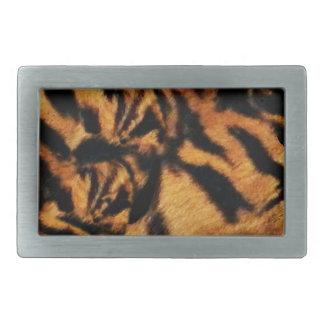 Tiger Love_ Rectangular Belt Buckle