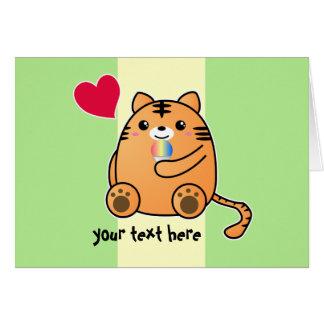 Tiger Love Kanji Card