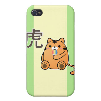 Tiger Love Kanji iPhone 4 Covers