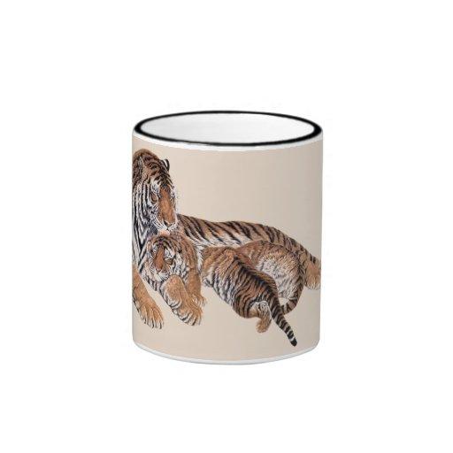 Tiger Love Ringer Mug