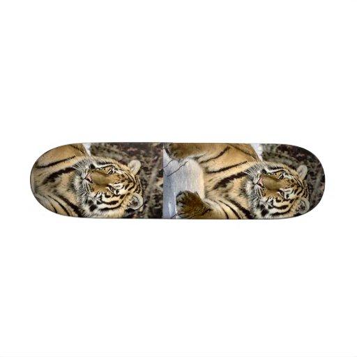 Tiger Lovers Art Gifts Custom Skateboard