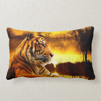 """Tiger Lumbar Pillow 13"""" x 21"""""""