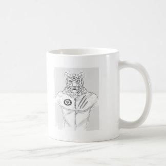 tiger_man_with_shirt kempo logo coffee mug