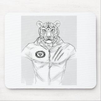 tiger_man_with_shirt kempo logo mouse pad