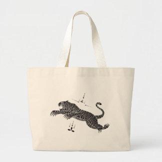 Tiger mantra large tote bag