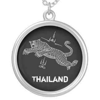 Tiger mantra round necklace