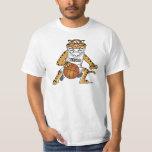Tiger Mascot Playing Basketball Shirt