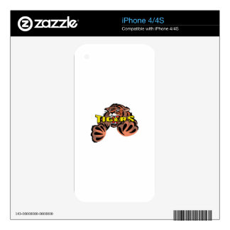 TIGER MASCOT DECALS FOR iPhone 4