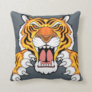 Tiger mascot throw pillow