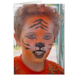 """Tiger Mask Boy"" Greeting Card"
