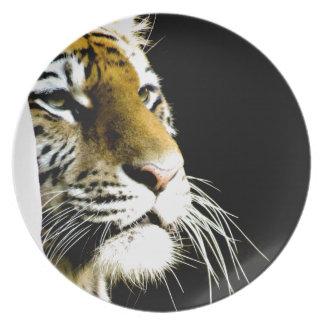 Tiger Melamine Plate