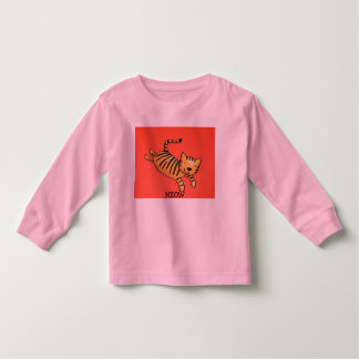 tiger,meow toddler t-shirt