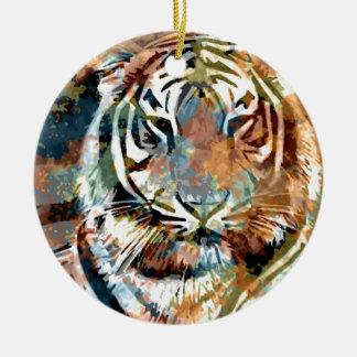 Tiger Mod Ceramic Ornament