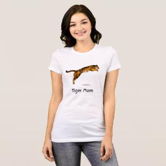 Tiger Mom Tshirt - Modern Leaping Tiger