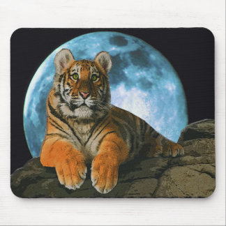 TIGER MOON MOUSE PADS