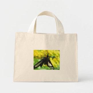 Tiger Moth and Goldenrod Canvas Bag