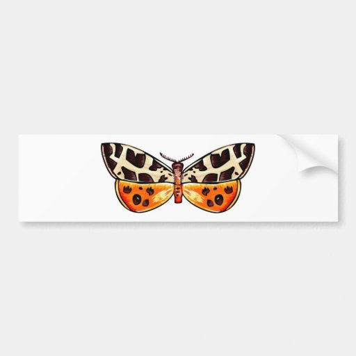 Tiger Moth Car Bumper Sticker