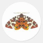 Tiger Moth Classic Round Sticker