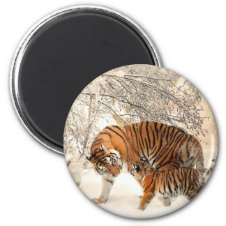 Tiger Mother and baby Magnet