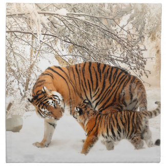 Tiger Mother and baby Napkin