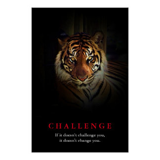 Tiger Motivational Challenge Poster