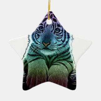 tiger multi colors ceramic ornament