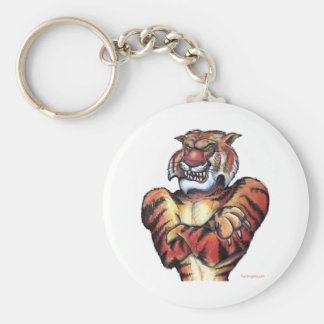 Tiger Muscle Basic Round Button Keychain